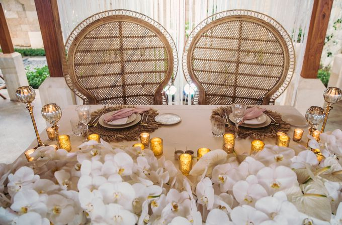 Tropical Lush Paradise Wedding at Amankila Villa, Bali by Silverdust Decoration - 016