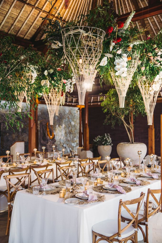 Tropical Lush Paradise Wedding at Amankila Villa, Bali by Silverdust Decoration - 030