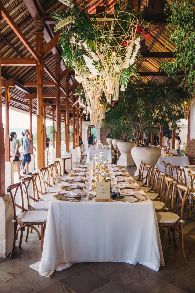Tropical Lush Paradise Wedding at Amankila Villa, Bali by Silverdust Decoration - 018