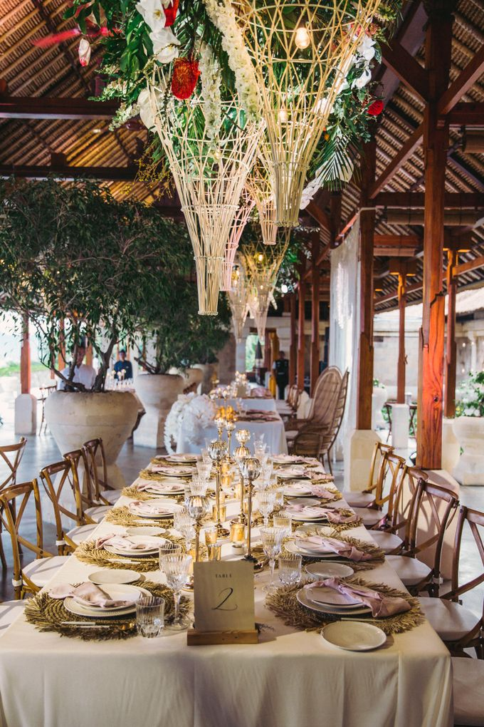 Tropical Lush Paradise Wedding at Amankila Villa, Bali by Silverdust Decoration - 019