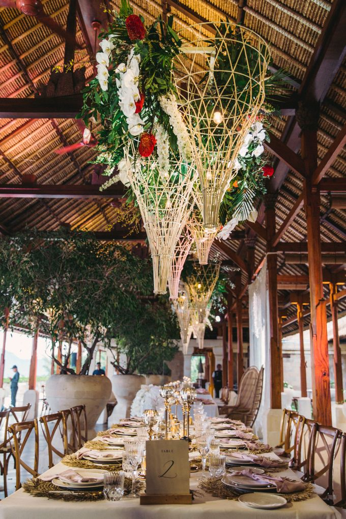 Tropical Lush Paradise Wedding at Amankila Villa, Bali by Silverdust Decoration - 031
