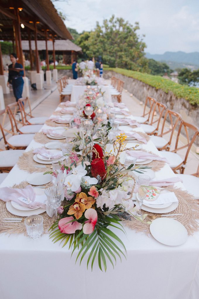 Tropical Lush Paradise Wedding at Amankila Villa, Bali by Silverdust Decoration - 026