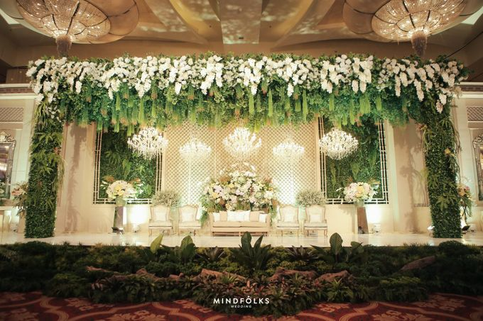 ZIA & DWI - WEDDING RECEPTION by Amarillis Floral and Party Decorator - 016