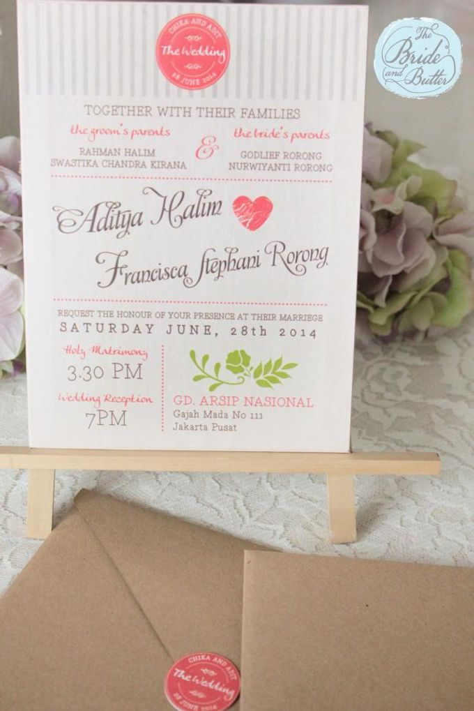 INVITATION - when rustic meets coral by The Bride and Butter - 003