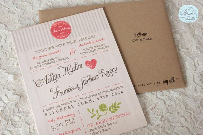INVITATION - when rustic meets coral by The Bride and Butter - 004