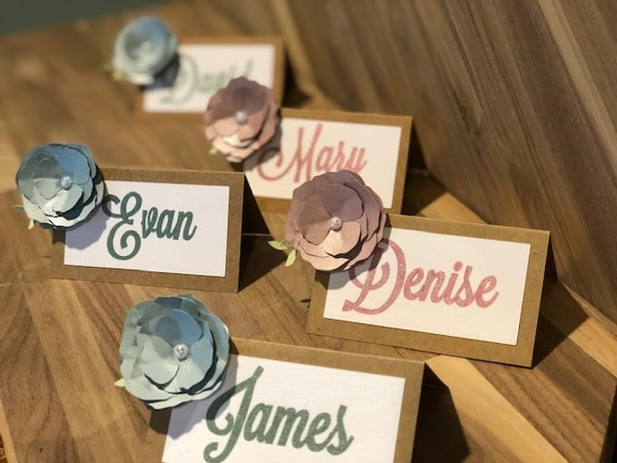 Wedding Place Cards by paper & string - 005