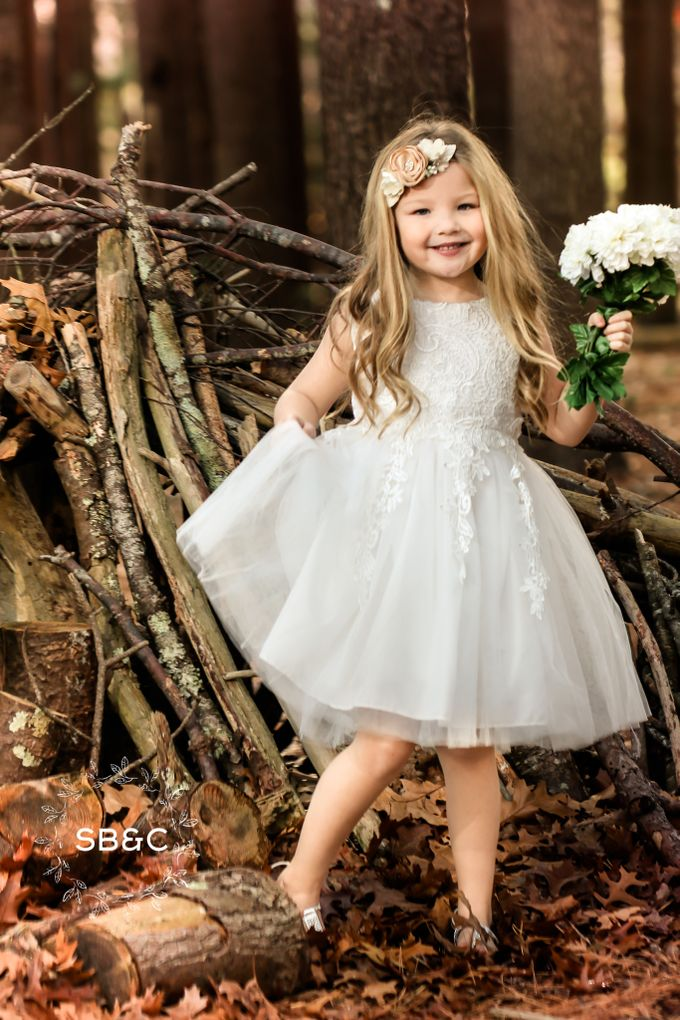 Flower Girl Dress by Sixpence Boutique & Co - 001