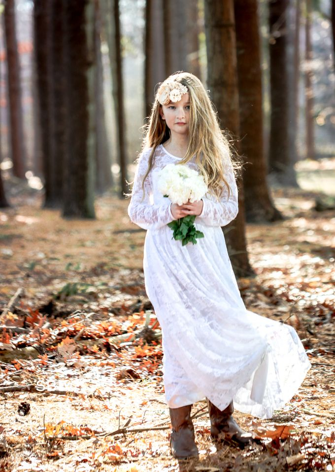 Flower Girl Dress by Sixpence Boutique & Co - 003