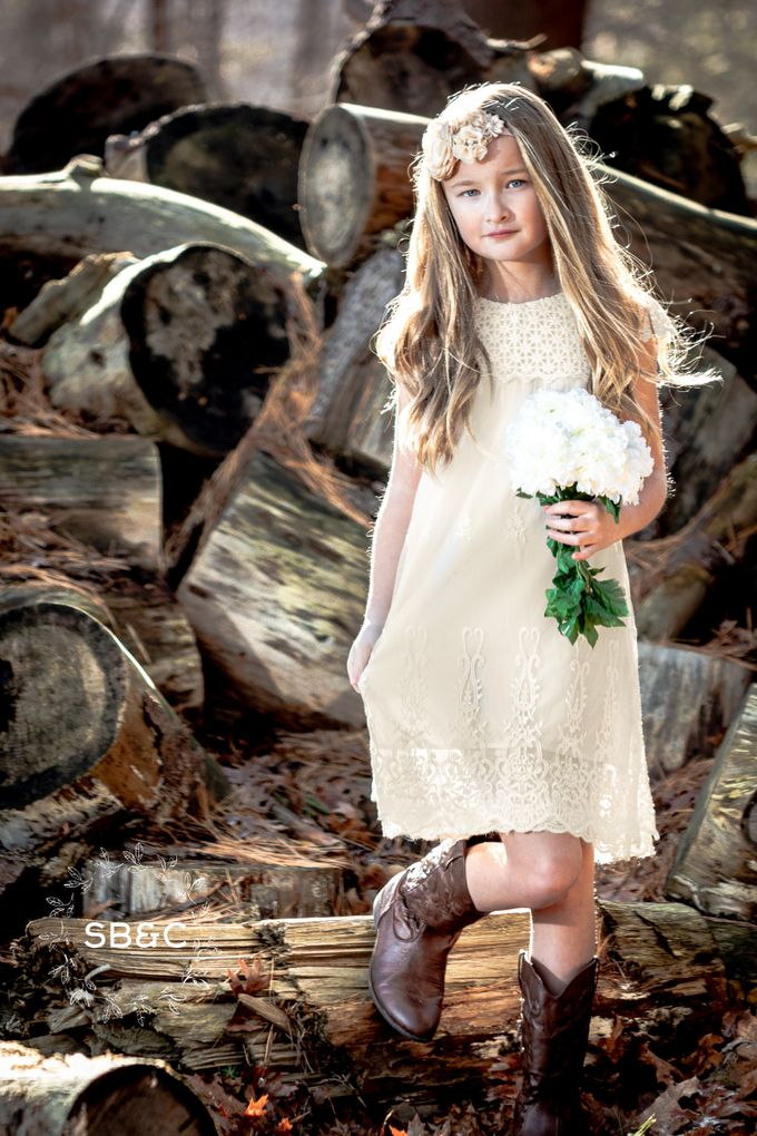 Flower Girl Dress by Sixpence Boutique & Co - 015
