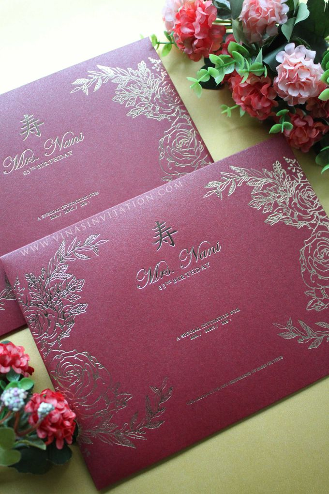 Mrs Nani 65th birthday by Vinas Invitation - 002