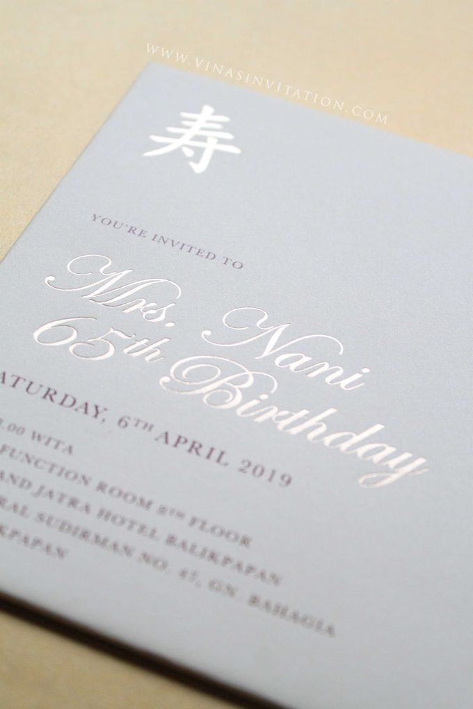 Mrs Nani 65th birthday by Vinas Invitation - 003