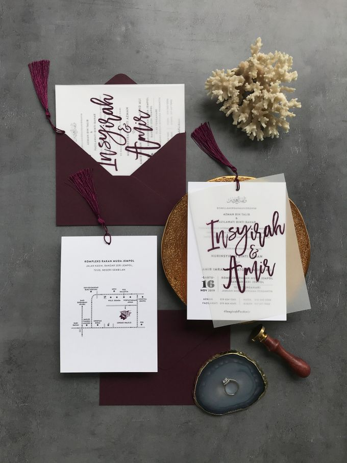 Vellum Invitation & Tassel by Ello Props - 014