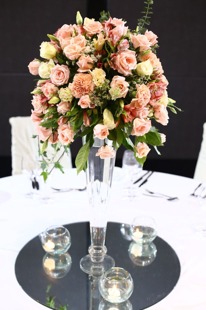Reception Styling by Natural Art Flowers and Decors - 008