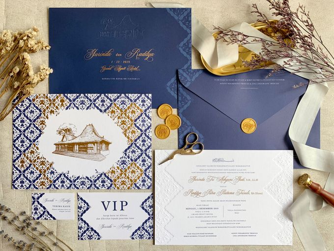 Navy Javanese Batik by Trouvaille Invitation - 006