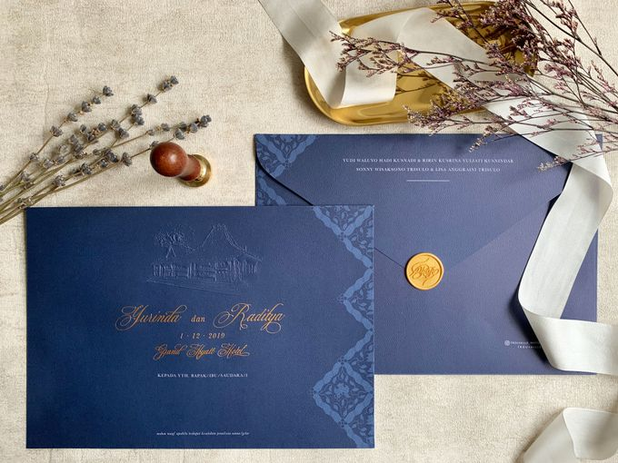 Navy Javanese Batik by Trouvaille Invitation - 007
