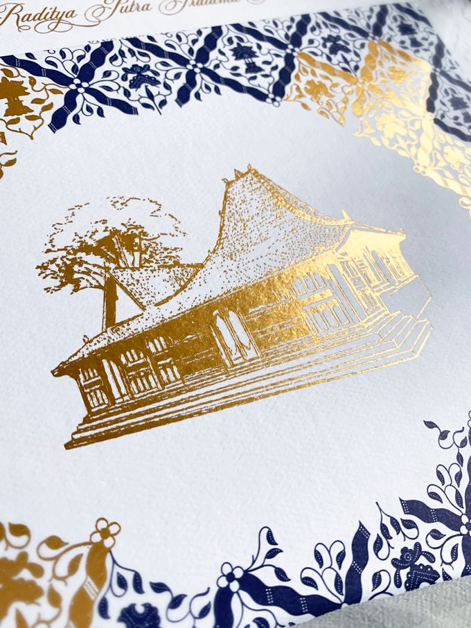 Navy Javanese Batik by Trouvaille Invitation - 003