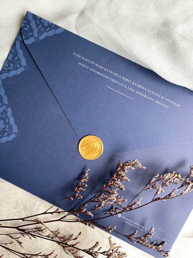 Navy Javanese Batik by Trouvaille Invitation - 010