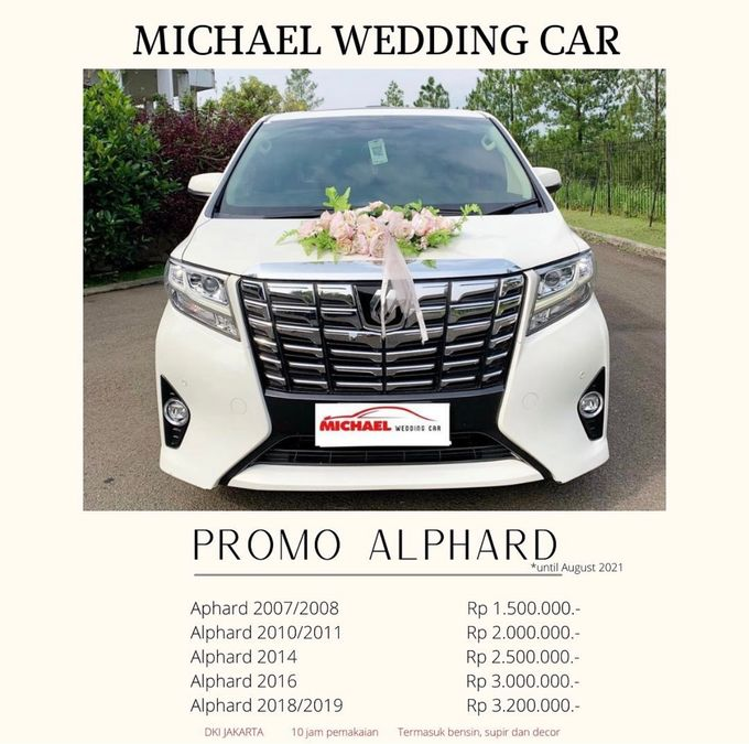 PROMO Start From 1.5 million by Michael Wedding Car - 001