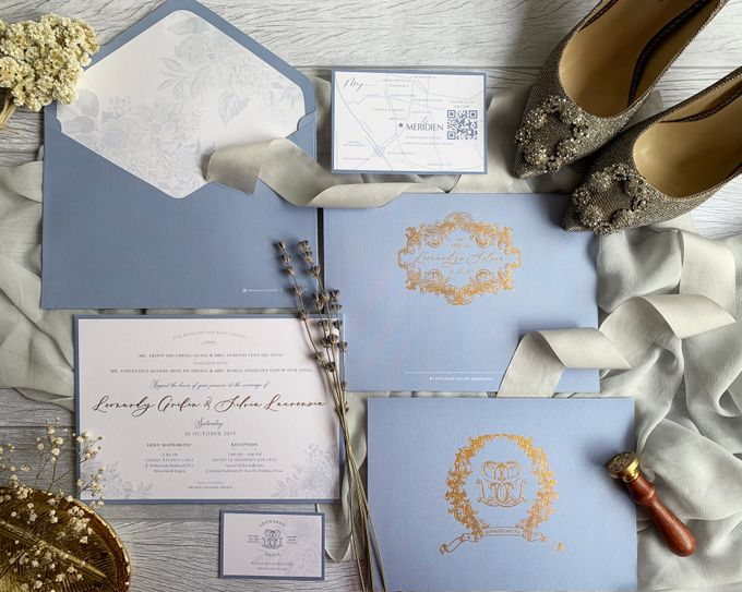 Vintage Blue by Trouvaille Invitation - 001