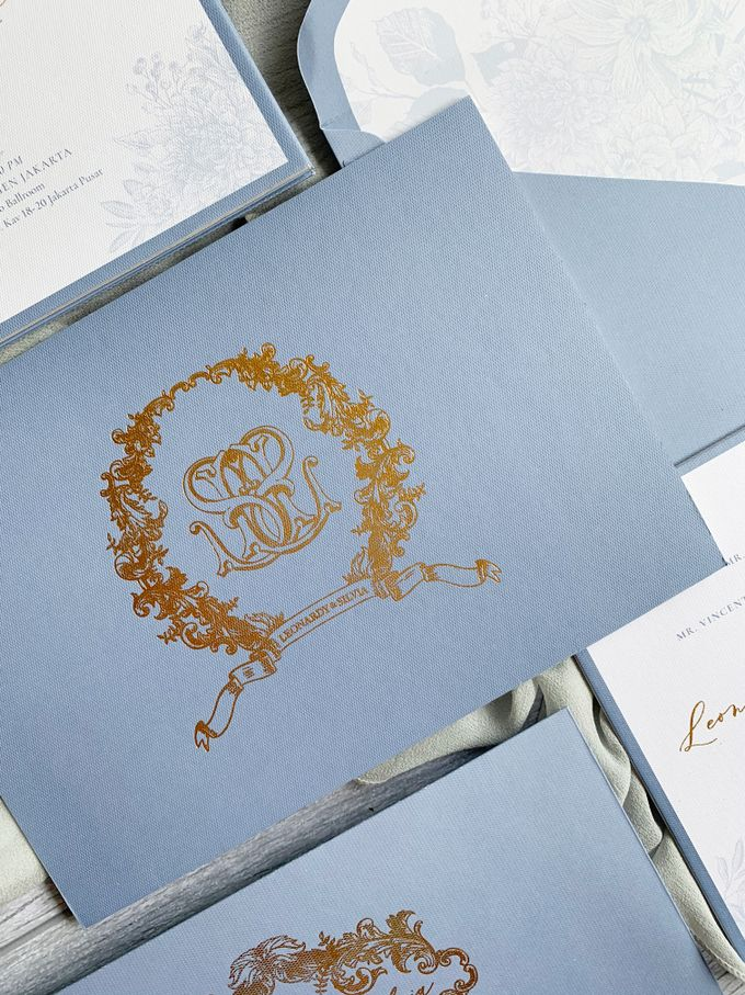 Vintage Blue by Trouvaille Invitation - 003