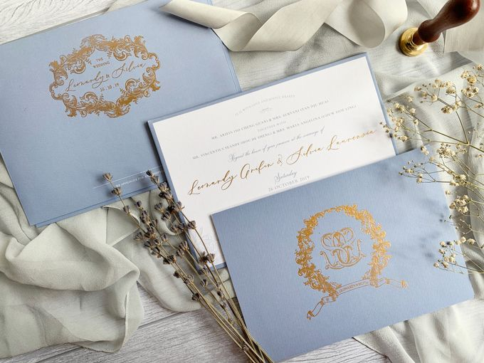 Vintage Blue by Trouvaille Invitation - 005