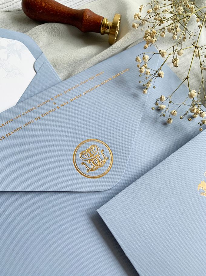 Vintage Blue by Trouvaille Invitation - 007