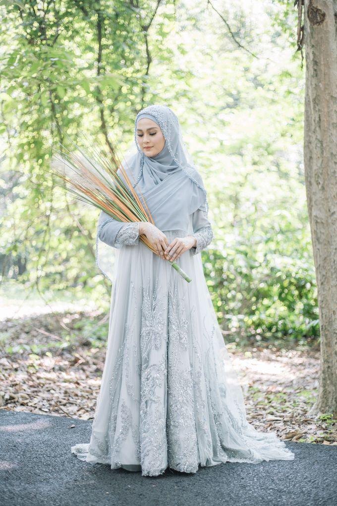 Ottoman Series - Blue Ice Resepsi by LAKSMI - Kebaya Muslimah & Islamic Bride - 007