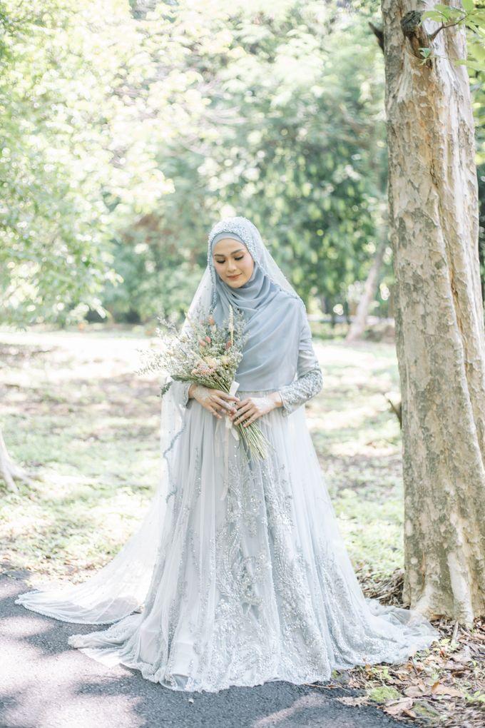 Ottoman Series - Blue Ice Resepsi by LAKSMI - Kebaya Muslimah & Islamic Bride - 010