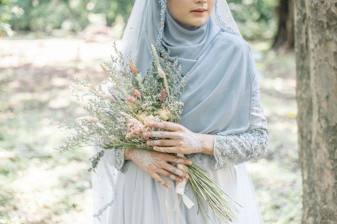 Ottoman Series - Blue Ice Resepsi by LAKSMI - Kebaya Muslimah & Islamic Bride - 006
