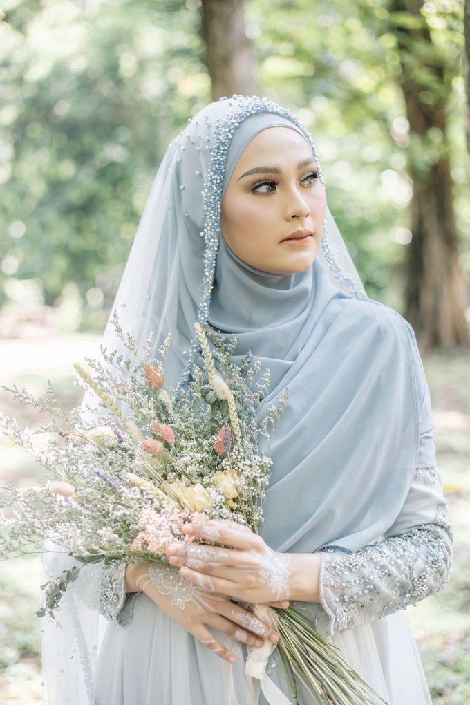 Ottoman Series - Blue Ice Resepsi by LAKSMI - Kebaya Muslimah & Islamic Bride - 012