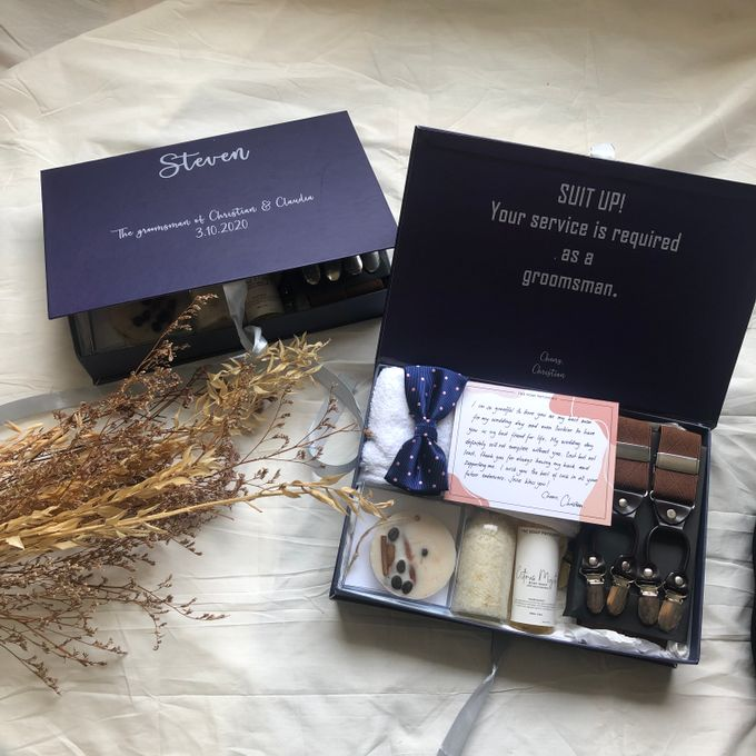 Bridesmaid and Groomsmen Gift Boxes for Christian & Claudia by The Soap Patisserie - 002