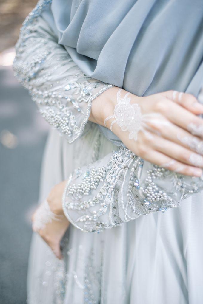 Ottoman Series - Blue Ice Resepsi by LAKSMI - Kebaya Muslimah & Islamic Bride - 009