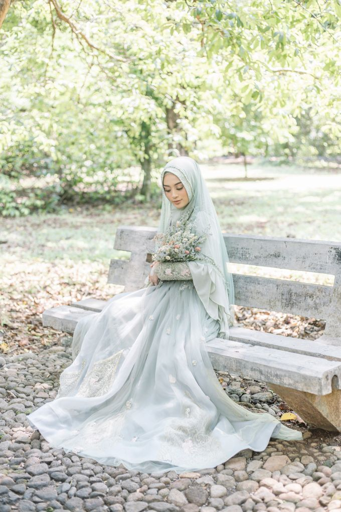 Ottoman Series - Green Sage Resepsi by LAKSMI - Kebaya Muslimah & Islamic Bride - 005