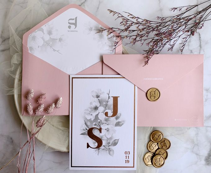 Cherry Blossoms by Trouvaille Invitation - 001