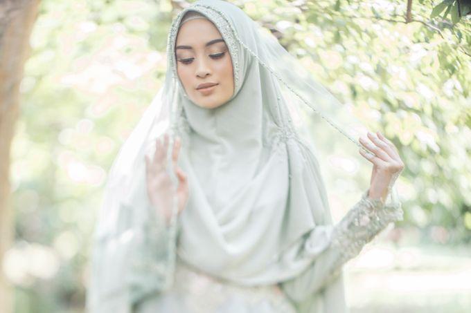 Ottoman Series - Green Sage Resepsi by LAKSMI - Kebaya Muslimah & Islamic Bride - 006