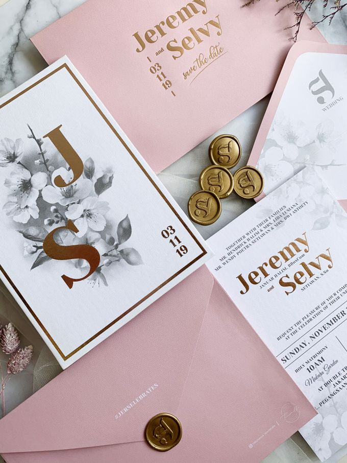 Cherry Blossoms by Trouvaille Invitation - 004