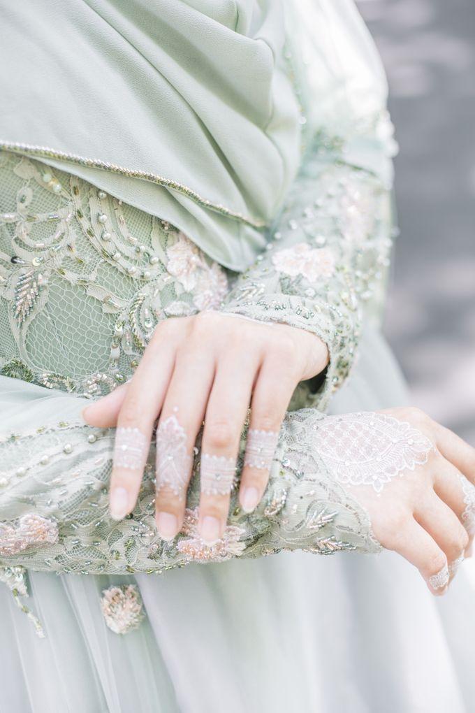 Ottoman Series - Green Sage Resepsi by LAKSMI - Kebaya Muslimah & Islamic Bride - 008