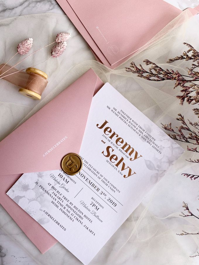 Cherry Blossoms by Trouvaille Invitation - 006