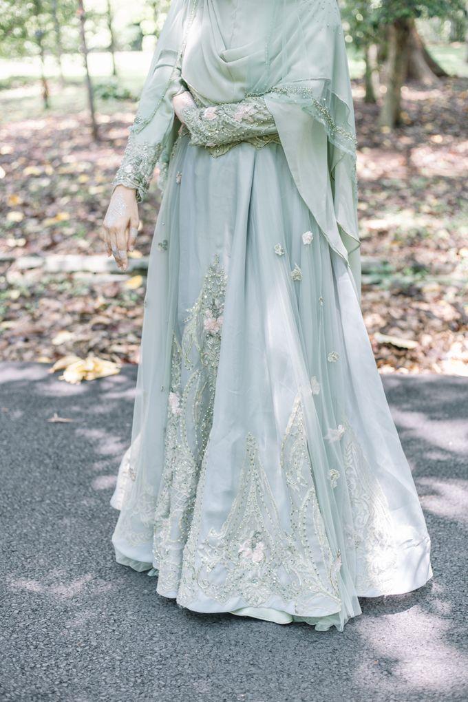 Ottoman Series - Green Sage Resepsi by LAKSMI - Kebaya Muslimah & Islamic Bride - 009