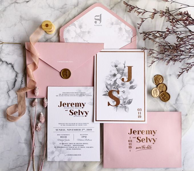 Cherry Blossoms by Trouvaille Invitation - 003