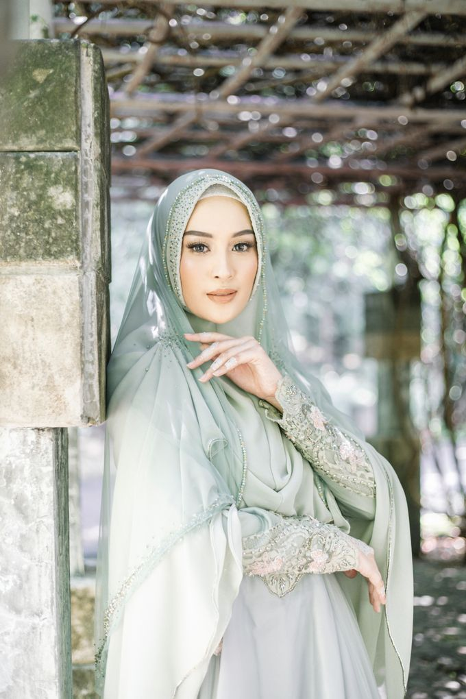 Ottoman Series - Green Sage Resepsi by LAKSMI - Kebaya Muslimah & Islamic Bride - 001