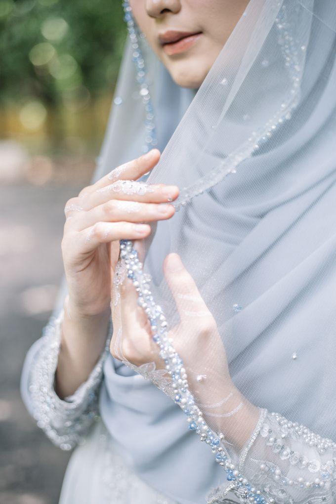 Ottoman Series - Blue Ice Resepsi by LAKSMI - Kebaya Muslimah & Islamic Bride - 011