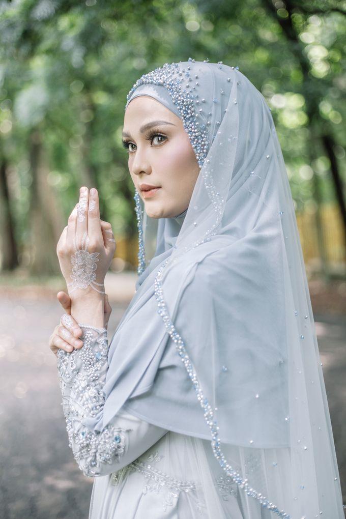Ottoman Series - Blue Ice Resepsi by LAKSMI - Kebaya Muslimah & Islamic Bride - 001
