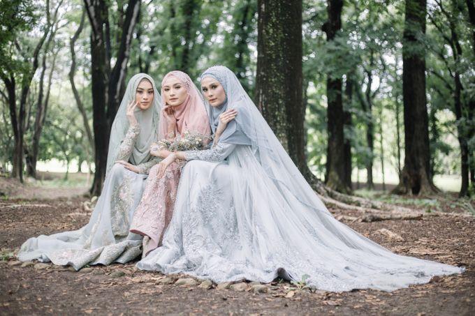 Dress Gaun Resepsi Gamis Ottoman Series by LAKSMI - Kebaya Muslimah & Islamic Bride - 003