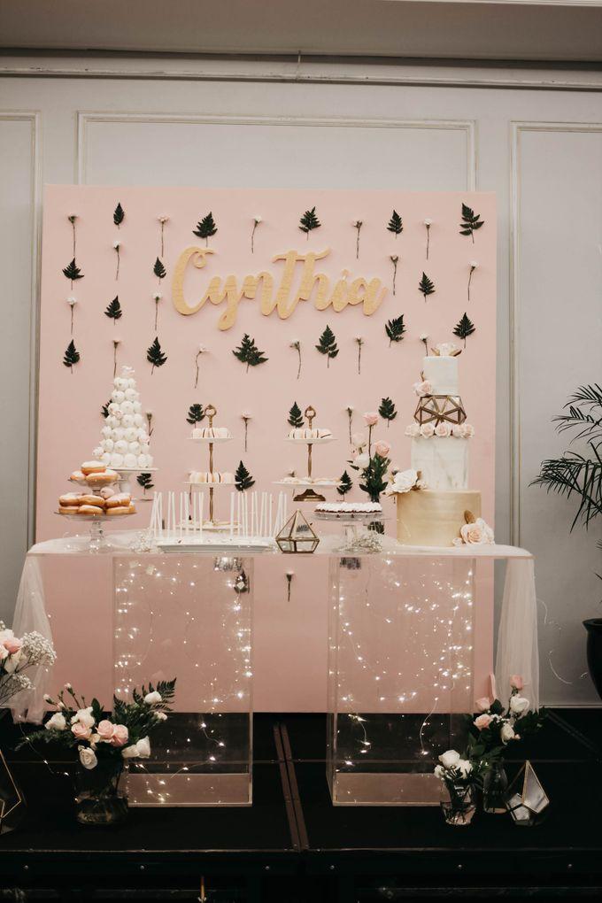 Romantic Dessert Table by Gordon Blue Cake - 039