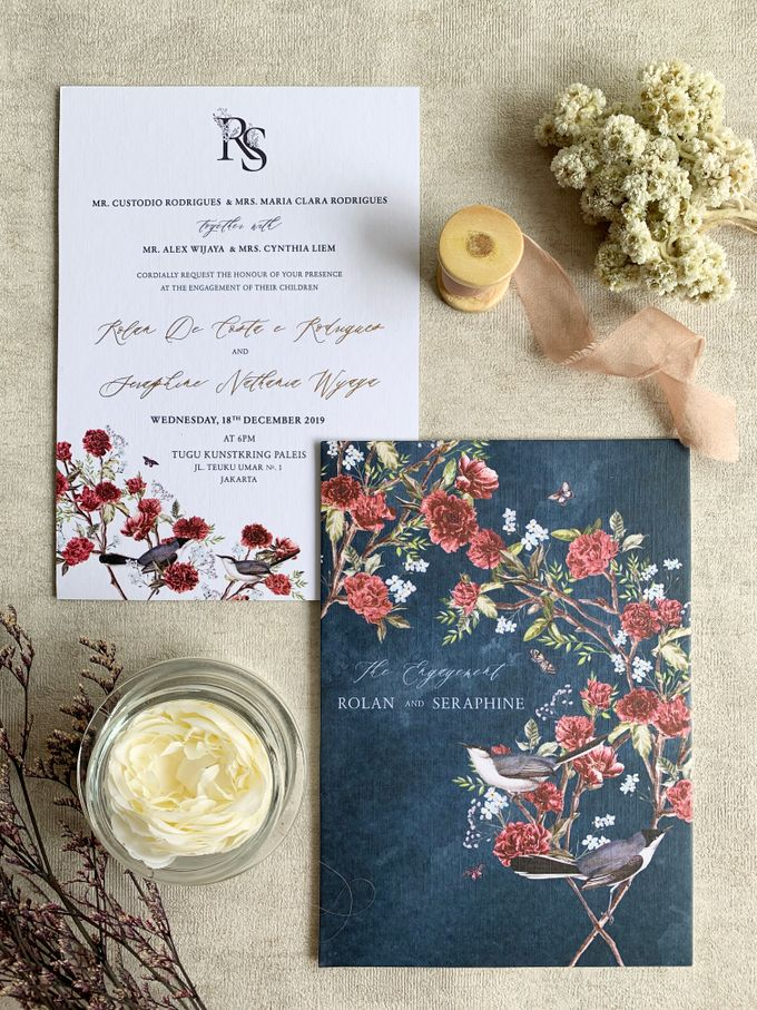 Navy Blue Chinoiserie by Trouvaille Invitation - 002