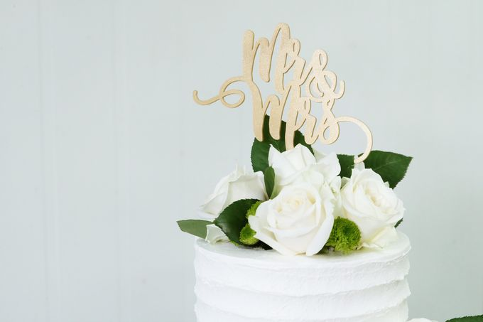 Two Tiered All White Buttercream by KAIA Cakes & Co. - 004