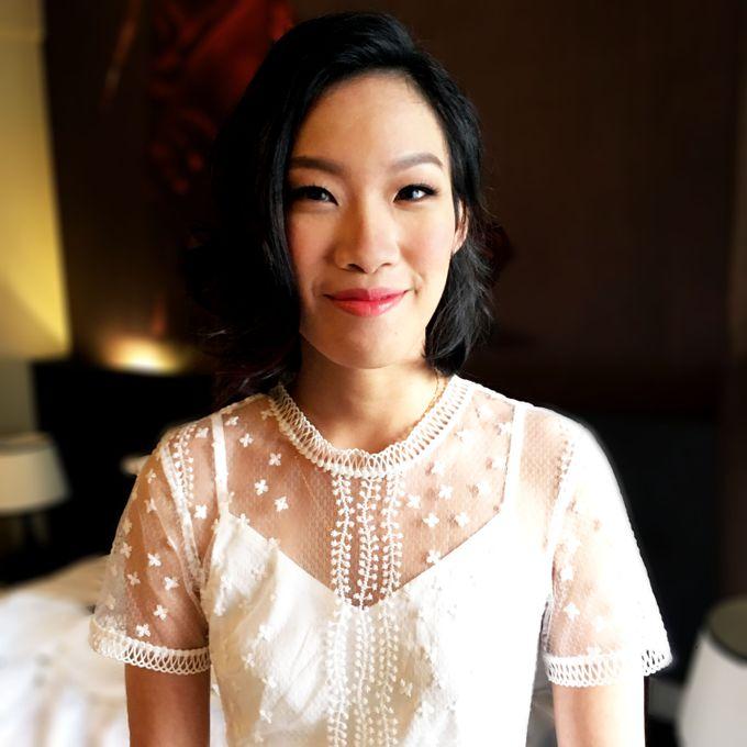 Bridal Short Hair Hairstyles by Sylvia Koh Makeup and Hairstyling - 002