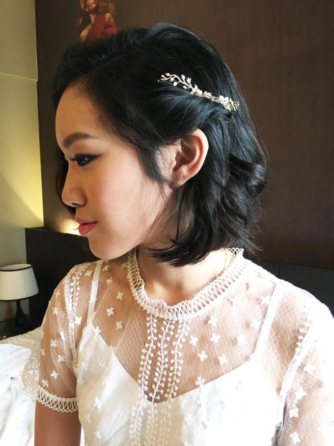 Bridal Short Hair Hairstyles by Sylvia Koh Makeup and Hairstyling ...