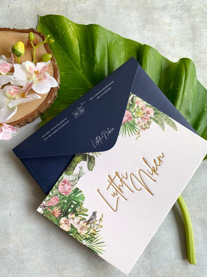 Tropical Paradise by Trouvaille Invitation - 004